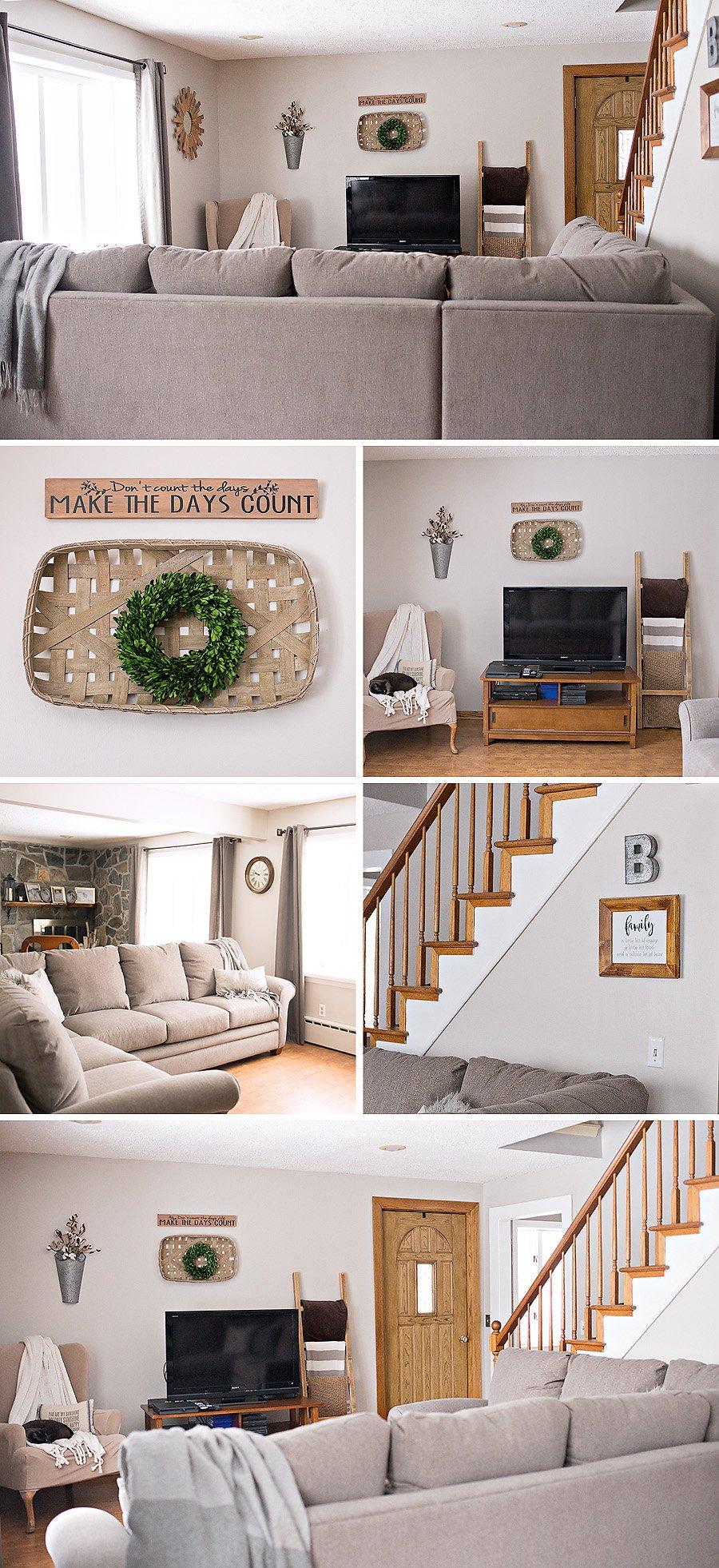 farmhouse living room makeover