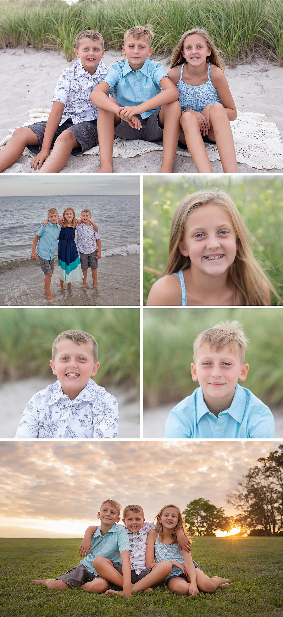 sibling beach session